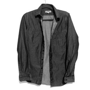 Express long sleeve button down gray & white